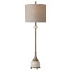 This item: Natania Antique Brass Table Lamp with Polished White Marble
