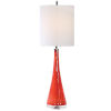 This item: Ariel Brushed Nickel and Coral Glass Table Lamp