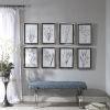 This item: Classic Black and White Botany Framed Print, Set of 8
