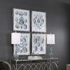 This item: Marine White and Black Study Framed Print, Set of 4