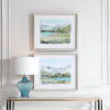 This item: Plein Air Reservoir White and Brown Watercolor Prints, Set of 2