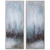 This item: Rainy Days Blue, White, Gray, Silver and Bronze Abstract Art, Set of 2