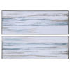 This item: Drifting Blue, White, Gray and Brown Abstract Landscape Art, Set of 2