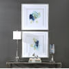 This item: Integral Motion Teal and Yellow Framed Print, Set of 2