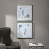 This item: Fractal Pastel Gray and White Abstract Art, Set of 2
