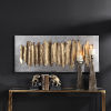 This item: Lev Antique Gold Leaf Wall Art