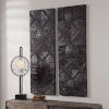 This item: Asuka Dark Walnut Carved Wood Wall Panel, Set of 2