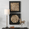 This item: Boaz Antique Gold Wall Decor, Set of 2