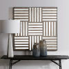This item: Terrence Light Gray Wash Mirrored Wall Decor