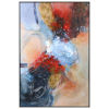 This item: Summer Sunset Orange, Red, Blue, Silver Leaf Abstract Art