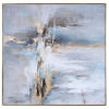 This item: Road Less Traveled Light Gray, Gold Leaf and White Abstract Art