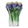 This item: Etta Mediterranean Blue and Clear Hyacinth Bouquet
