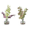 This item: Malin Green, Purple and Clear Vases, Set of 2