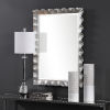 This item: Haya Silver Leaf Vanity Mirror