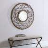 This item: Samudra  Brown Round Rattan Mirror