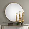 This item: Mackai Round Gold Mirror