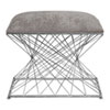 This item: Zelia Silver Accent Stool