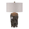 This item: Crayton Crackled Gray Table Lamp