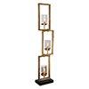 This item: Cielo Gold Staggered Rectangles Three-Light Floor Lamp