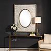This item: Gabbriel Mottled Gray and Metallic Silver Mirror