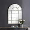This item: Grace Arched Rustic Gray Mirror
