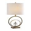This item: Evelyn Antique Brass and Crystal One-Light Table Lamp
