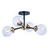 This item: Orbit Oil Rubbed Bronze with Muted Brass Four-Light Semi-Flush Mount