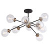 This item: Orbit Oil Rubbed Bronze and Muted Brass Nine-Light Semi Flush Mount