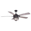 This item: Barnes Matte Black and Rustic Oak 54-Inch Two-Light Outdoor Ceiling Fan
