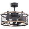 This item: Kodiak Oil Rubbed Bronze and Burnished Teak 21-Inch Three-Light Ceiling Fan