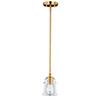 This item: Toledo Natural Brass Five-Inch 1-Light Mini Pendant