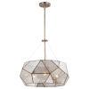 This item: Euclid Aged Brass Three-Light Pendant