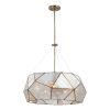 This item: Euclid Aged Brass Five-Light Pendant