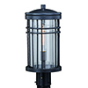 This item: Wrightwood Vintage Black 8-Inch 1-Light Outdoor Post