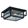 This item: Hyde Park Espresso Bronze Two-Light Outdoor Flush Mount