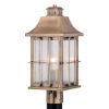 This item: Quincy Antique Brass One-Light Outdoor Post