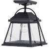 This item: Lexington Textured Black One-Light Outdoor Semi Flush Mount