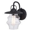 This item: Glenn Textured Black 10-Inch One-Light Outdoor Wall Sconce