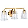 This item: Toledo Natural Brass 22-Inch 3-Light Bath Vanity