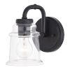 This item: Toledo Matte Black One-Light Bath Sconce