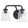This item: Toledo Matte Black Two-Light Bath Vanity
