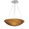 This item: Milano Satin Nickel Three-Light 16-Inch Pendant Lava Swirl Glass
