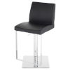 This item: Matteo Black and Silver Adjustable Stool