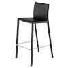 This item: Bridget Matte Black Bar Stool