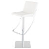 This item: Swing White and Silver Adjustable Stool