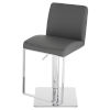 This item: Matteo Dark Gray and Silver Adjustable Stool