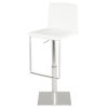This item: Kailee White and Silver Adjustable Stool