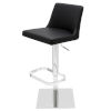 This item: Rome Black and Silver Adjustable Stool