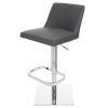 This item: Rome Matte Black and Silver Adjustable Stool