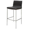 This item: Colter Dark Gray and Silver Bar Stool